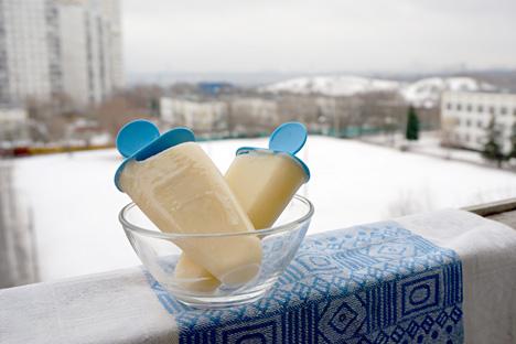 Il gelato in Russia viene mangiato in qualsiasi stagione, anche in inverno.