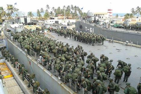 Ejercicio militar desde la base naval Agustín Armario de Puerto Cabello. Fotos cortesía Fuerza Armada Nacional Bolivariana.
