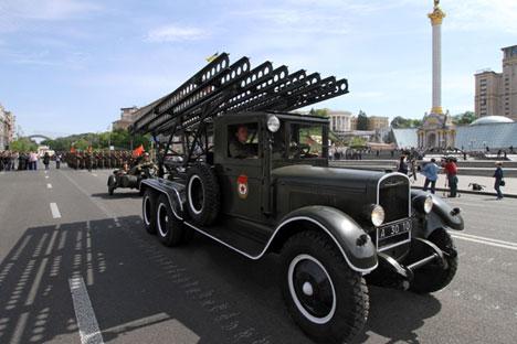 Esta arma, predecesora de los actuales y sofisticados sistemas de lanzamiento, fue clave durante la Segunda Guerra Mundial. Fuente: Ria Novosti / Grigoriy Vasilenko