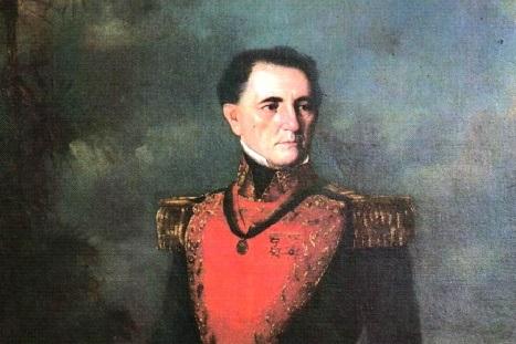 Imagen de José Tadeo Monagas, presidente de Venezuela en dos oportunidades. Fragmento del óleo de Martín Tovar y Tovar.