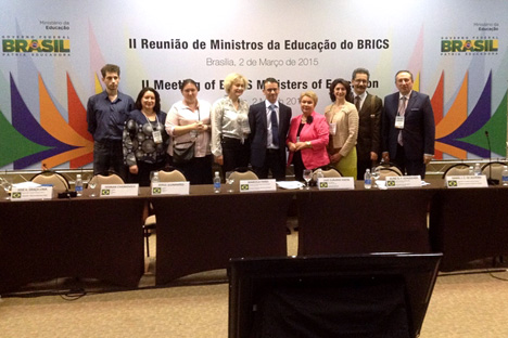 Foto de familia de los representantes de los BRICS en la reunión. Fuente: Press photo.