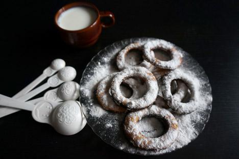 Tanto niños como adultos disfrutaban de estas rosquillas. Fuente: Anna Jarzéieva