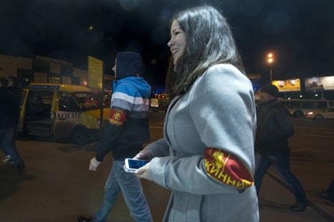 En Tver ciudadanos colaboran con las fuerzas del orden para luchar contra el vandalismo. Fuente: Ria Novosti