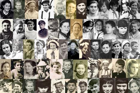 """La imagen forma parte de la exposición inaugurada en el Instituto Cervantes de Moscú """"Los niños de la guerra cuentan su vida, cuentan tu historia"""""""