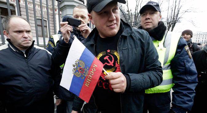 La minoría rusa en Letonia carece de derechos políticos. Fuente: Reuters