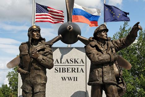En el aérodromo de Fairbanks se levantó un memorial en 2006. Fuente: Alamy/Legion Media.