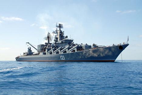"""El destructor acorazado """"Moskvá"""". Fuente: mil.ru"""