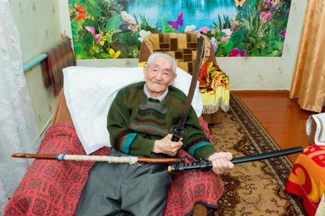 Yusitero Nakagawa, antiguo prisionero de guerra, decidió vivir en la URSS tras su cautiverio. Fuente: Tagir Rajávov / Rossiyskaya Gazeta