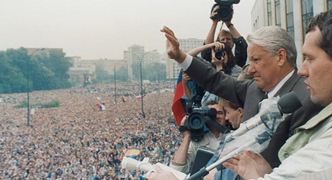 La tradición de un poder presidencial fuerte en la Rusia actual fue comenzada por el primer líder postsoviético, Borís Yeltsin. Fuente: Reuters
