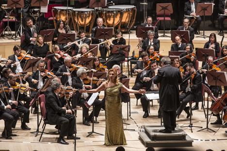 Oxana Shilova en la gala de estrellas de la ópera rusa en el Centro Cultural Kirchner. Fuente: servicio de prensa