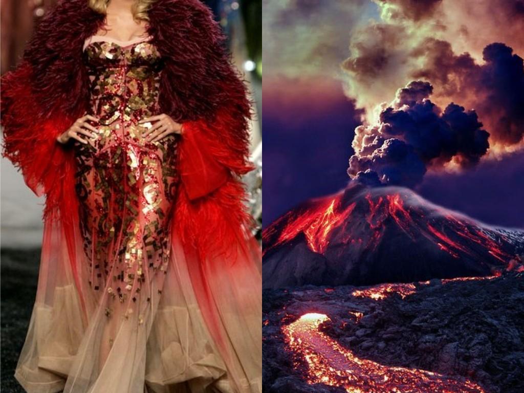 Christian Dior O/I 2005 & Volcán en erupción, Hawái (EE UU).