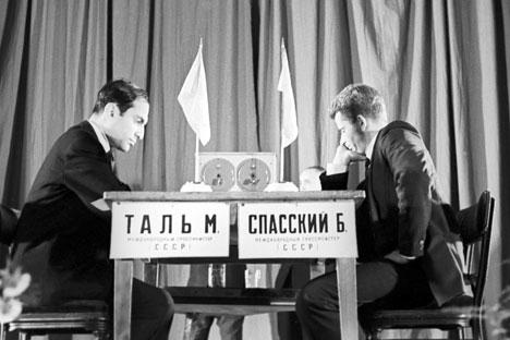 Partida de ajedrez entre Spasski y Talm