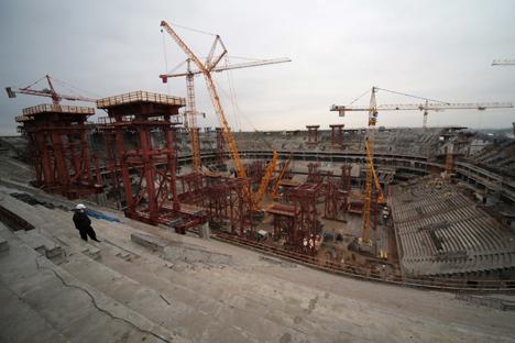 La construcción del estadio Zenit Arena. Fuente: Ígor Russak / Ria Novosti