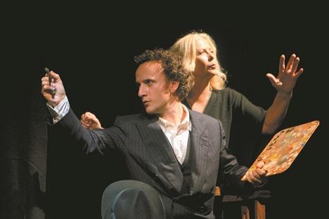 Iván Oriola e Irina Kouberskaya, durante un ensayo.