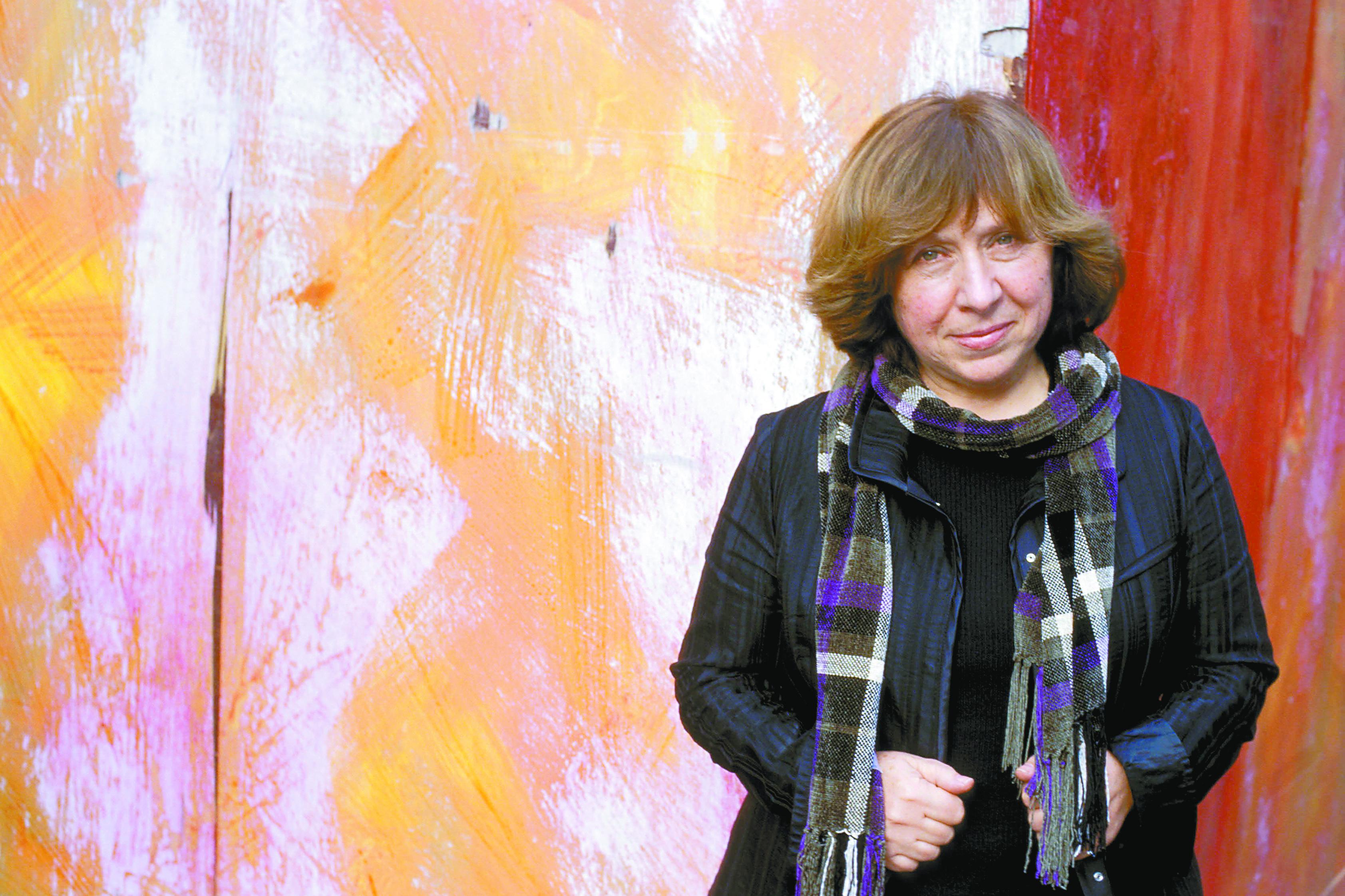 Svetlana Alexiévich, ganadora del Premio Nobel de Literatura 2015.