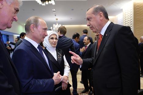 Vladímir Putin y Tayyip Erdogan