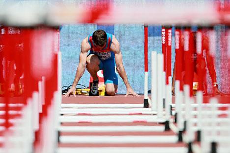 Serguei Shubenkov en el Campeonato Mundial de Pekín.