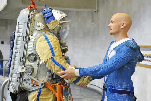 El astranauta Alexander Gerst en el Centro Gagarin. Foto: Roman Sokolov / RIA Novosti