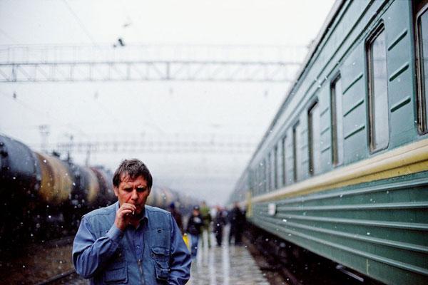 Viajando por el Transiberiano. Foto: Evgueni Petrushanski