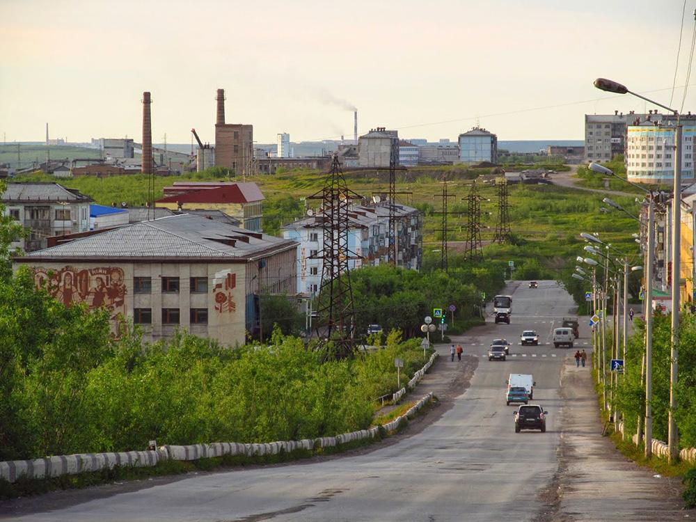 Uno scorcio della città di Vorkuta.