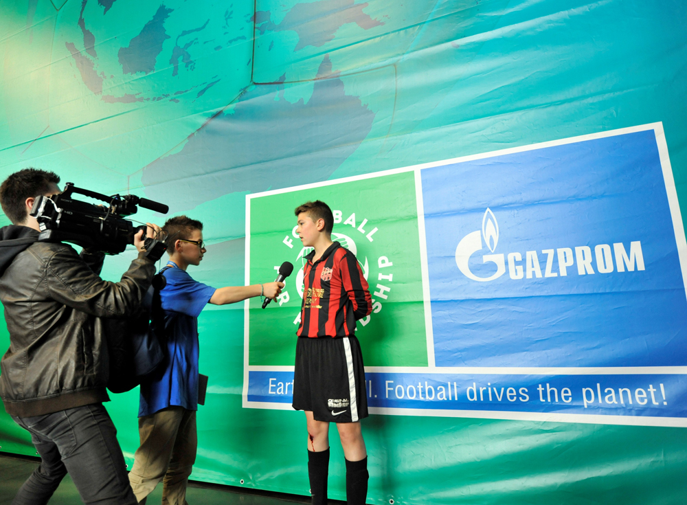 Gazprom has chosen 32 children to work at the Children's press center during the UEFA Champions League Final in Milan.