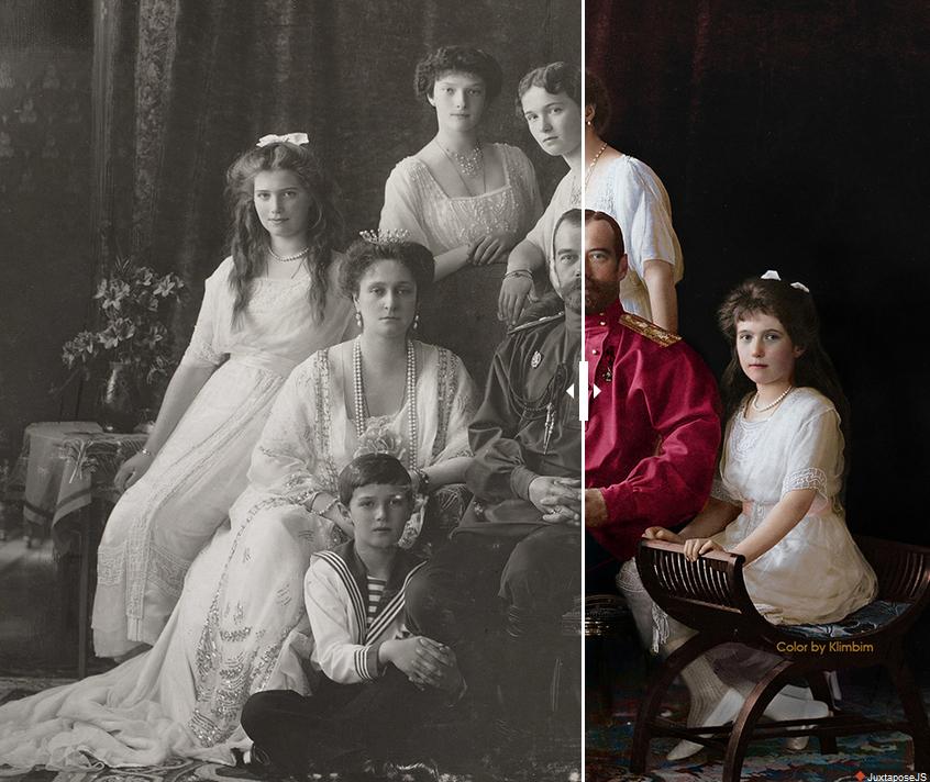 Joven artista rusa colorea fotografías históricas