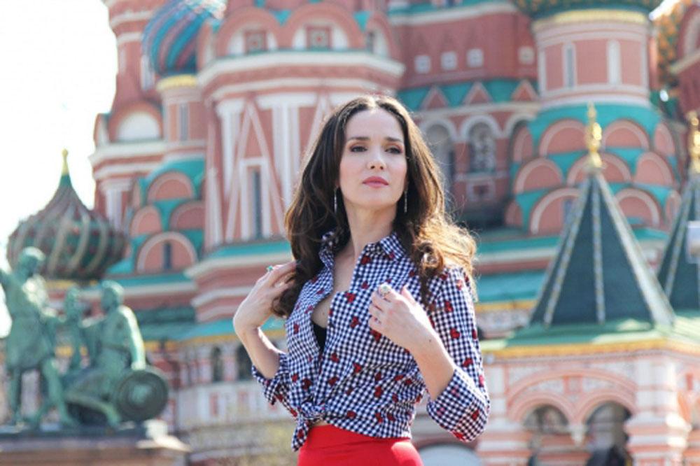 Natalia Oreiro en Moscú. Fuente: Servicio de prensa