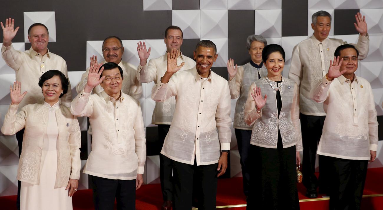 Los líderes del APEC durante la cumbre celebrada en Filipinas el año pasado.