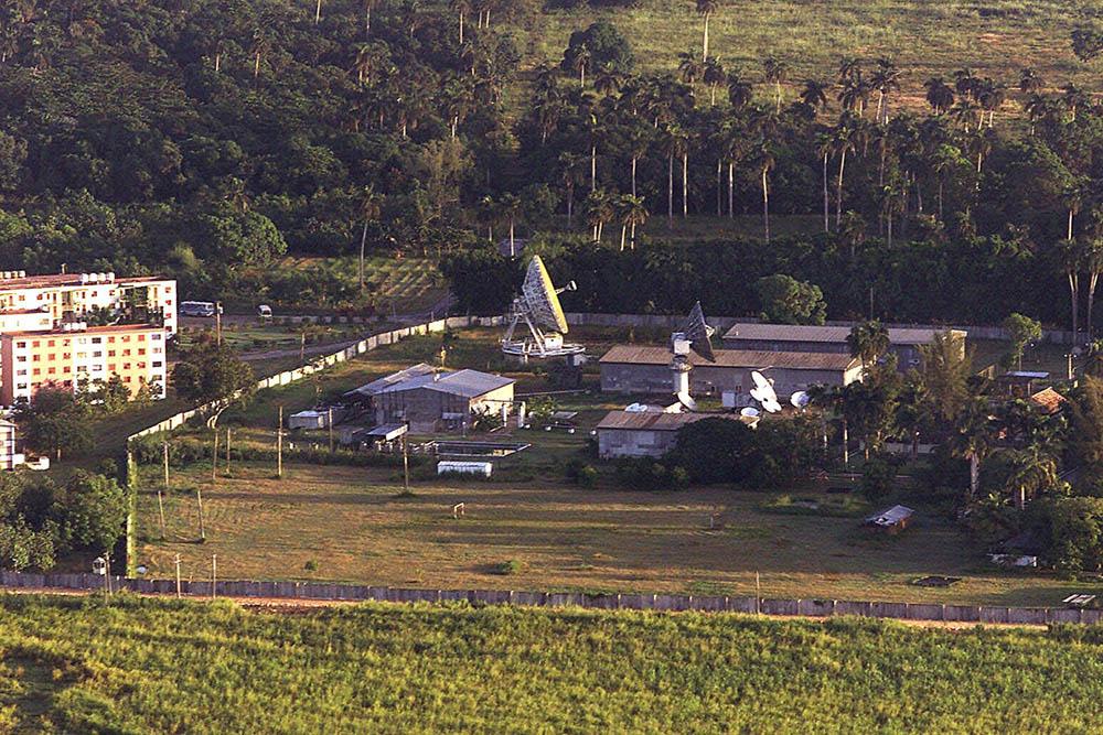 El centro radioelectrónico de Lourdes, Cuba.