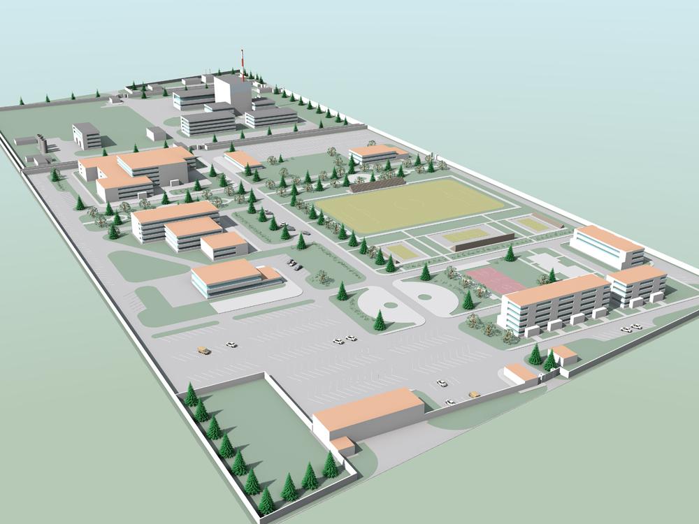 Maquete do Centro de Pesquisa e Tecnologia Nuclear, em El Alto Foto: Divulgação