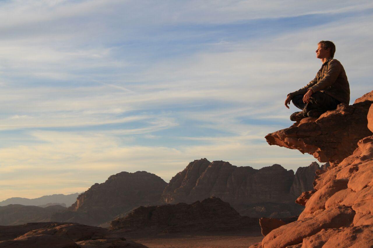 Smirnov passou 3 semanas no deserto de Wadi Rum, na Jordânia (Foto: Arquivo pessoal)