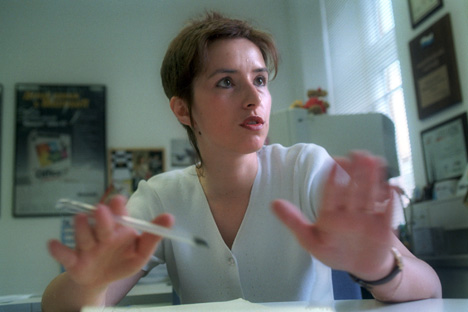 Olga Dergounova, ex-présidente de Microsoft Russie. Crédit photo: Kommersant