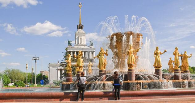 Le aprc VVTs à la gloire des réalisations économiques de l'URSS fait partie des sites incontournables de la capitale. Crédit photo: Lori/LegionMedia