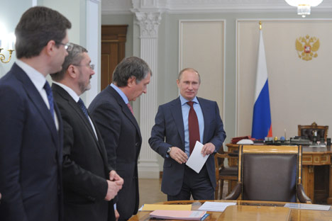 Poutine a transmis à Medvedev le soin d'achever les privatisations. Crédit photo:  Alexei Nikolski/RIA Novosti