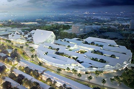 La ville conçue comme une cellule s'étire à partir d'un noyau central structuré autour de l'université et du Technopark, pièces maîtresses de la cité. Source: AP