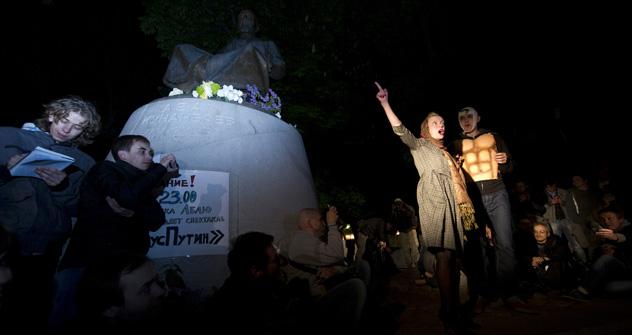 Les opposants se sont organisés tellement que le campement a vite pris des allures de festival culturel, la politique étant presque passée au second plan. Crédit photo: RIA Novosti