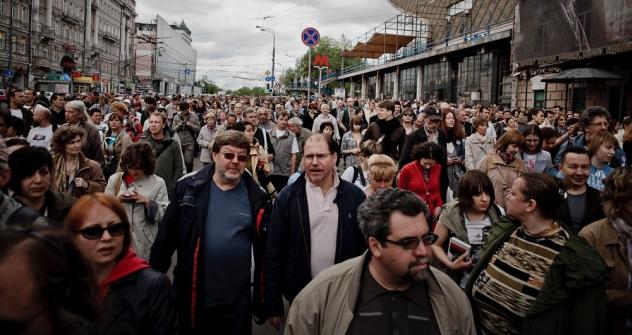 Les organisateurs de la promenade pouvaient difficilement imaginer que le nombre de ceux qui voudraient se promener avec eux soit si grand. Crédit photo: Rouslan Soukhouchine