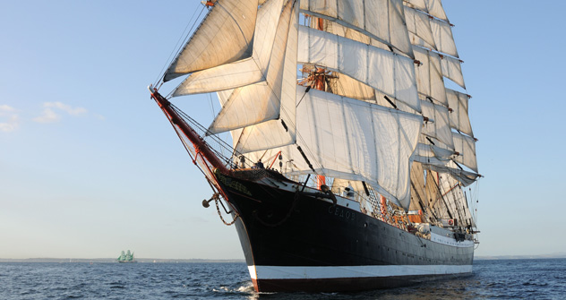 Le plus gros voilier du monde Sedov. Crédit photo : Alamy/Legion-Media