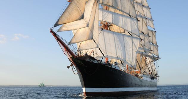 Le plus gros voilier du monde Sedov. Crédit photo: Alamy/Legion-Media