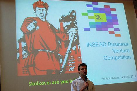 Apresentação do centro da inovação de Skôlkovo Foto: Maria Tchobanov