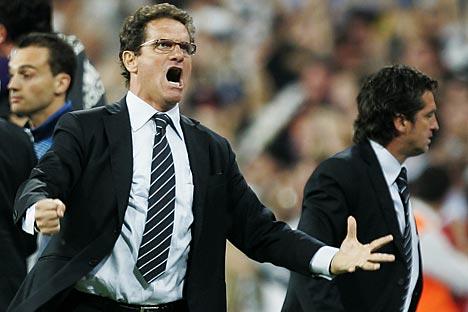 Fabio Capello a présenté un programme, qui met l'accent sur un développement planifié et à long-terme du football russe au plus haut niveau. Crédit photo: AP