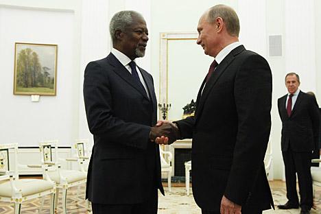 À en juger par le ton des déclarations émises lors de la rencontre, Moscou et Annan ont une compréhension mutuelle complète, mais aussi le désir de travailler main dans la main. Mikhaïl Klimentiev / RIA Novosti