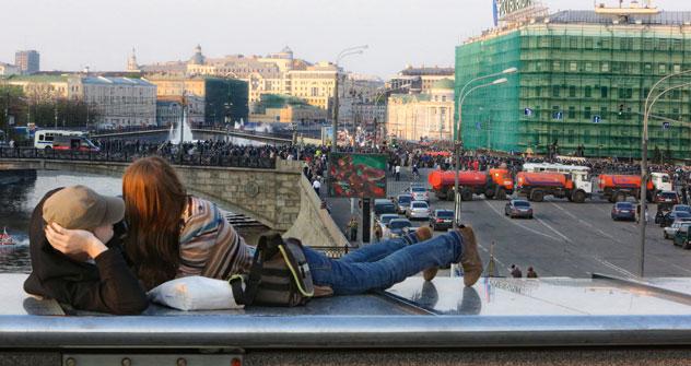 Depuis le début du printemps, Moscou accueille de nombreux touristes politiques. Crédit photo: Kommersant