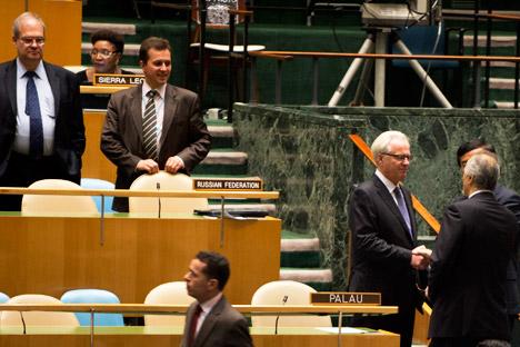 La question syrienne a divisé les membres de BRICS: la Russie et la Chine ont rejeté la résolution, le Brésil et l'Afrique du Sud ont voté en sa faveur, et l'Inde s'est abstenue. Crédit photo: AFP / East News