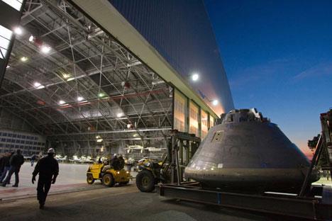 La création du véhicule spatial habité Orion. Crédit photo: Nasa photo