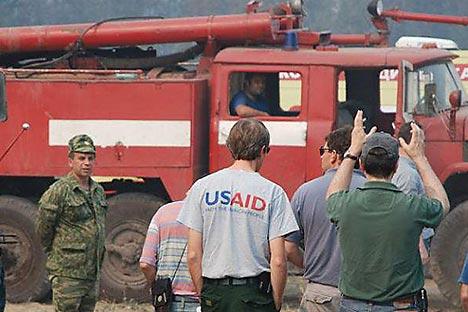 Le représentant d'USAID Russia, David Grout, a déclaré dans un communiqué officiel que «l'agence soutenait des programmes en Russie qui continueront encore de deux à quatre ans». Crédit photo: USAID / Svyatoslav Stoyanov