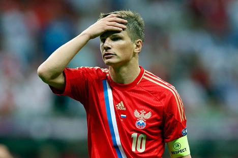 Après l'échec de l'équipe russe à l'Euro 2012, dans une discussion avec le député Anton Belyakov Andreï Archavine a fait une déclaration qui a déclenché la colère de tous les fans de football. Crédit photo: Itar-Tass
