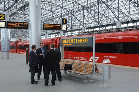 Pour 2015, Aéroexpress prévoit un doublement du nombre de passagers. Crédit photo: Itar-Tass