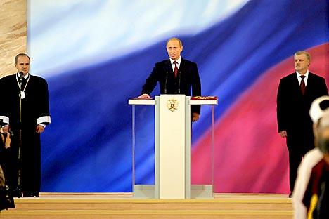 Les résultats du dernier sondage montrent que les Russes voient désormais Poutine comme un dirigeant peu efficace et doutent de sa capacité à opérer des changements positifs. Crédits photo: ITAR-TASS