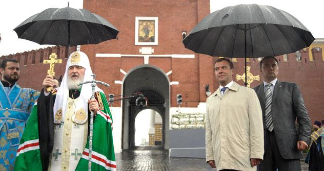 Ses six derniers mois, l'Église othodoxe russe s'est beaucoup trouvée impliquée dans la vie politique du pays. Crédit photo: Itar-Tass